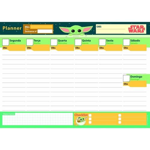 Planner Semanal de Mesa Star Wars (52 semanas)  - Nuvem de Cereja