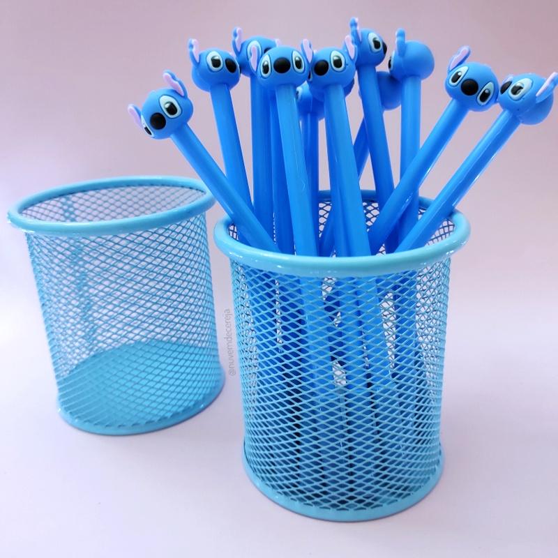 Porta Lápis Azul Pastel  - Nuvem de Cereja