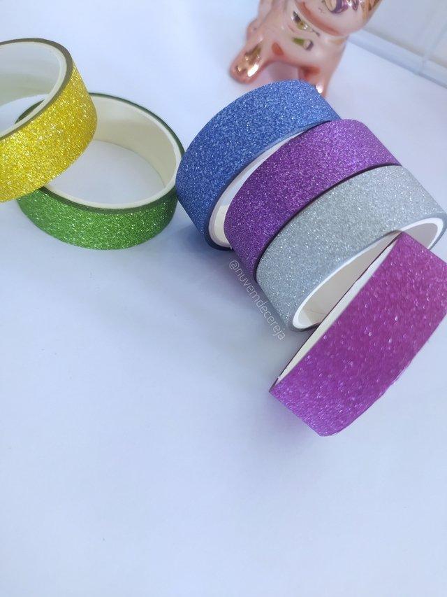 Washi tape Glitter  - Nuvem de Cereja