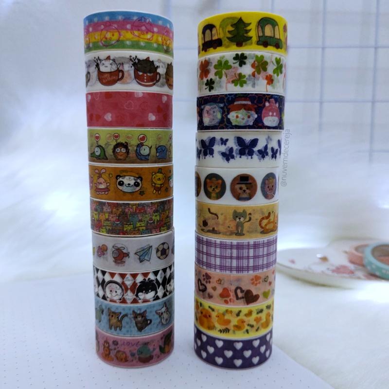 Washi Tape Variadas  - Nuvem de Cereja