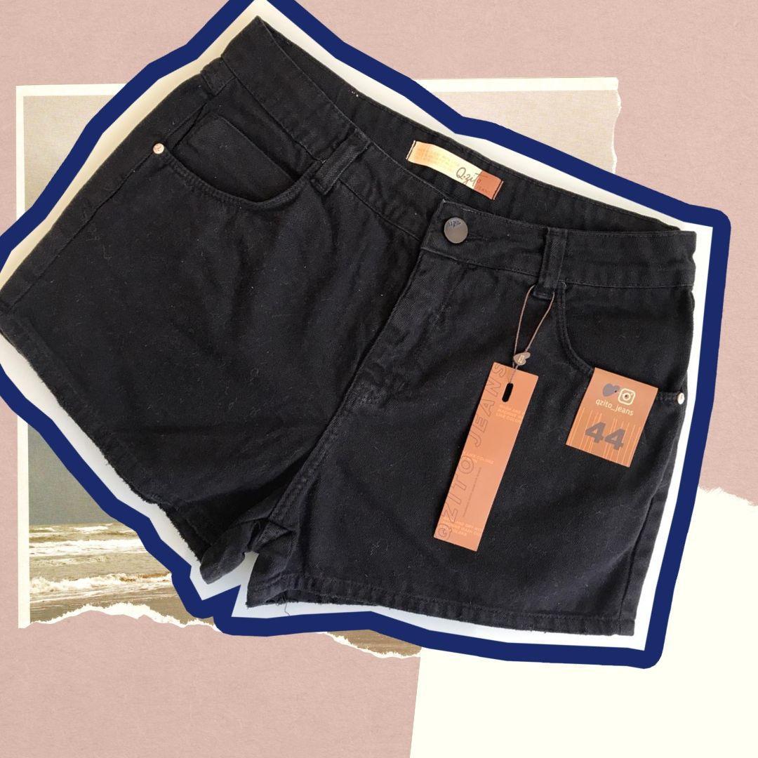 Short Jeans Basic - Preto
