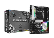 ASROCK B450 STEEL LEGEND p/ AMD AM4 4xDDR4/2xPCI-e/6xSATA/2xM.2