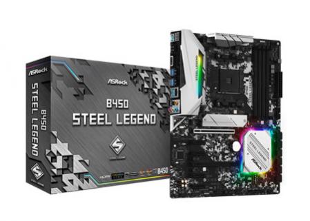 ASROCK B450 STEEL LEGEND p/ AMD AM4 4xDDR4/2xPCI-e/6xSATA/2xM.2
