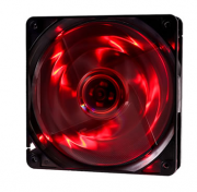 Fan/Exaustor p/ Gabinete 12 x 12 cm OEX [F10] Led Vermelho (Conector p/ MB e Fonte)