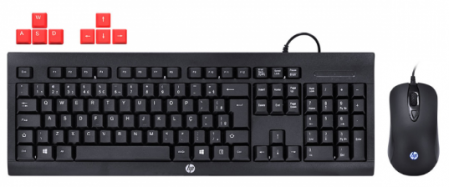 KIT TECLADO E MOUSE HP GAMER - KM100 BLACK - HP