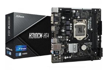 ASROCK H310CM-HG4 p/ Intel LGA1151 2xDDR4/1xPCI-e/4xSATA