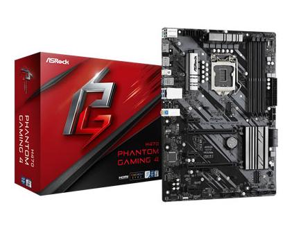 ASROCK H470 PHANTOM GAMING 4 p/ Intel LGA1200 4xDDR4/2xPCI-e/6xSATA/2xM.2