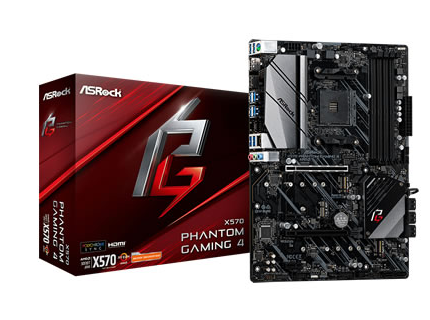 ASROCK X570 PHANTOM GAMING 4 p/ AMD AM4 4xDDR4/2xPCI-e/8xSATA/2xM.2