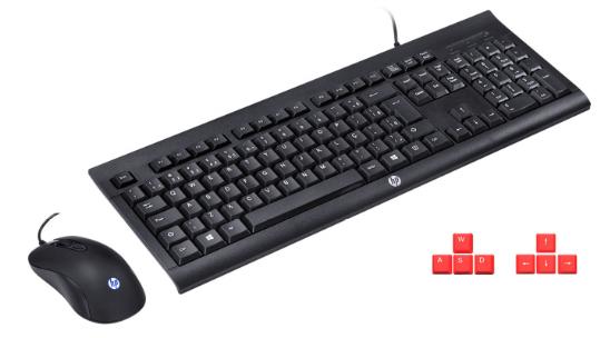 Fone Bluetooth + Kit Teclado e Mouse HP Gamer
