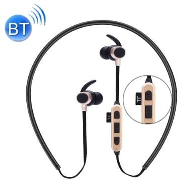 FONES DE OUVIDO MAGNÉTICOS BLUETOOTH AUSCULTADORES MP3 DE ESPORTE ESTÉREO COM MICROFONE & SLOTS DE CARTÃO TF ST-K3