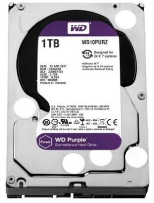 Hard Disk WESTERN DIGITAL PURPLE 1.0TB 5400RPM 64MB SATA 6Gb/s (CFTV/24x7)