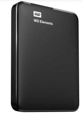 "HD Externo 2,5"" WD Elements Portable 1.0TB USB 3.0 Preto"