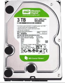HD Sata Western Digital Interno 3TB 7200 RPM WD30EZRX
