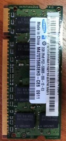 Memória Samsung 2gb 2rx8 Pc2-5300s - Notebook
