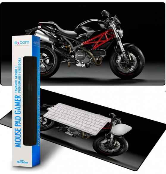 Mouse Pad Gamer Personalizado Extra Grande Motocicleta Exbom - MP7035C22