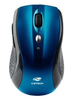 Mouse Sem Fio USB Óptico C3TECH M-W012BL V2 (1600 DPI) Azul