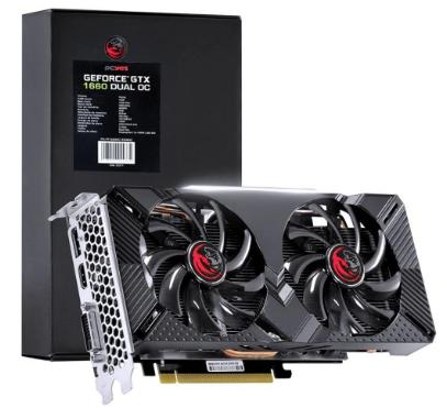 VGA PCI-e GeForce GTX1660 PCYES 6GB DDR5 192 bits (DVI-D/HDMI/DP)