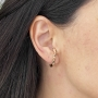 Brinco ear hook italiano banhado a ouro 18k