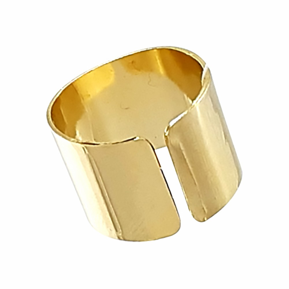 Anel Liso regulável banhado a ouro 18k