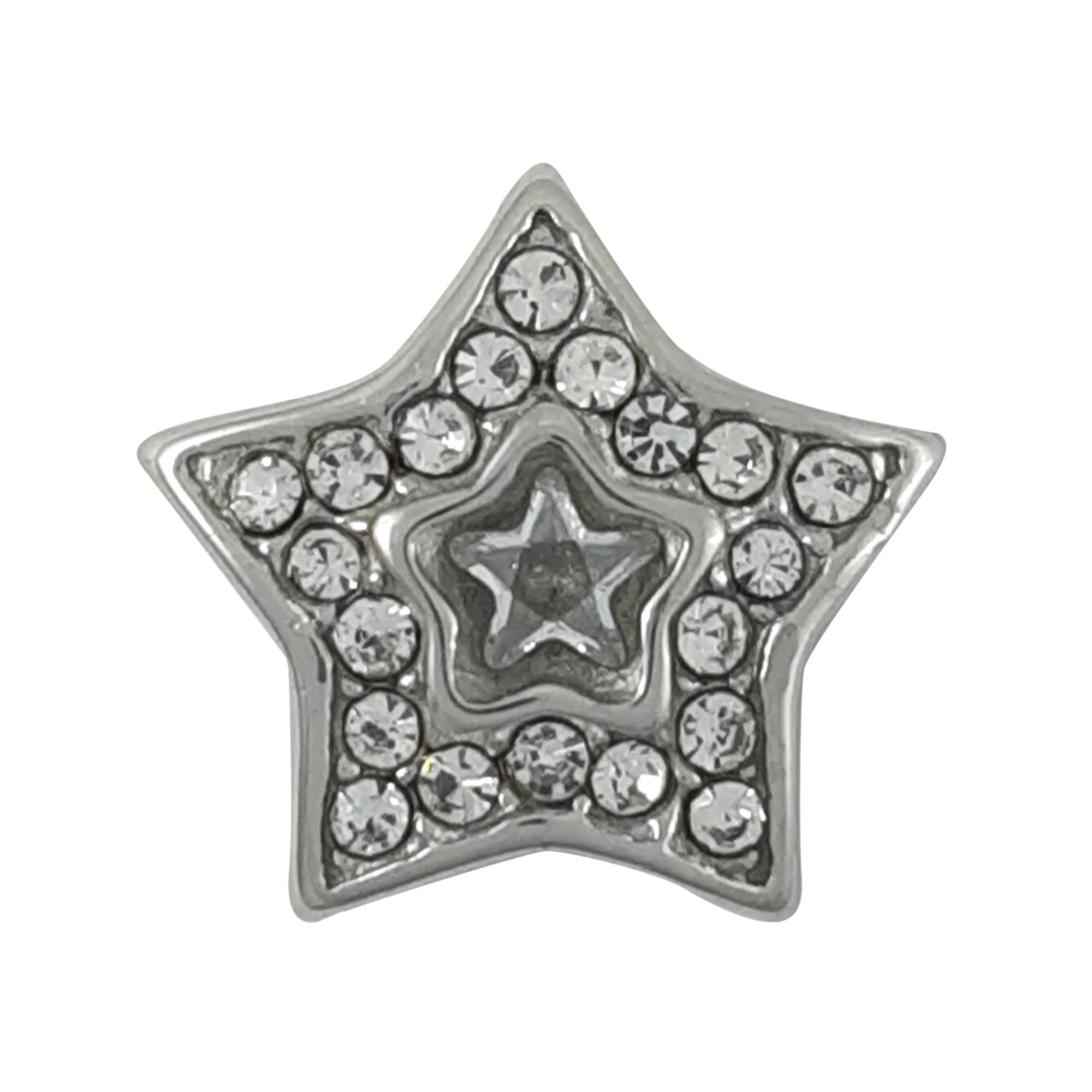 Berloque Estrela cravejado em aço