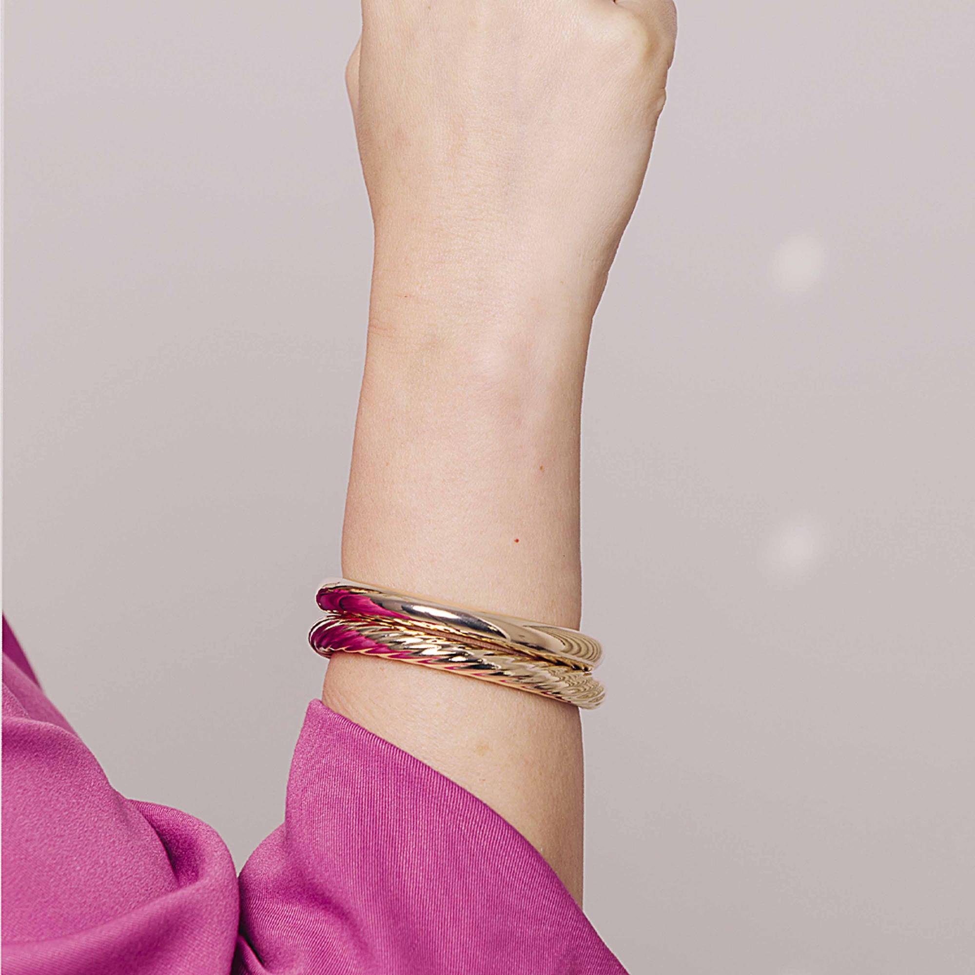 Bracelete algema banhado a ouro18k