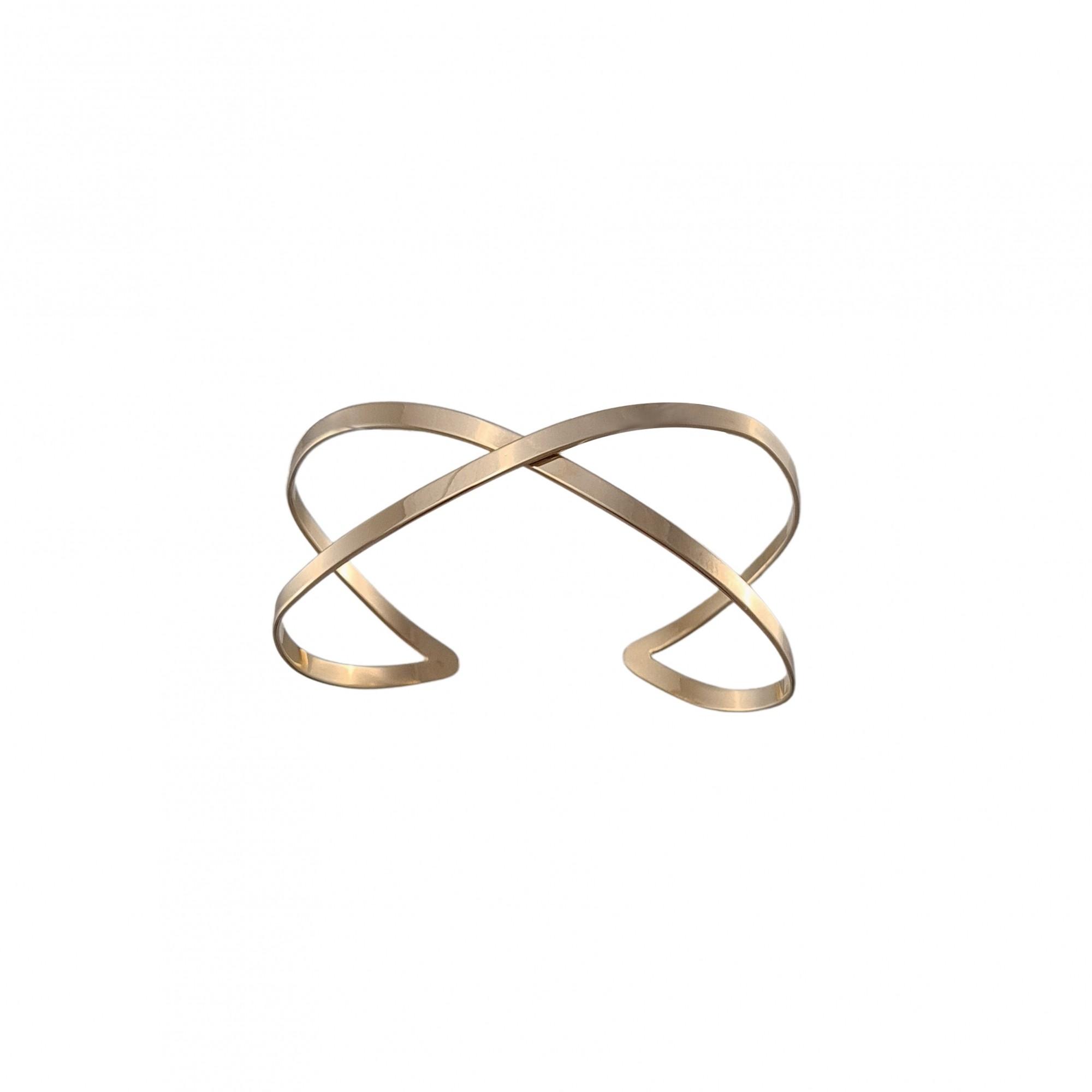 Bracelete em x banhado a ouro 18k