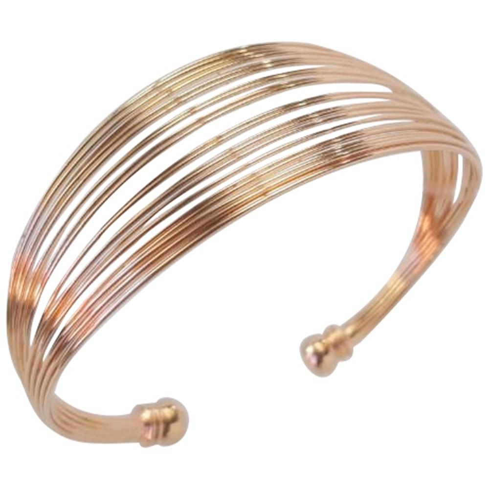 Bracelete fios banhado a ouro 18k