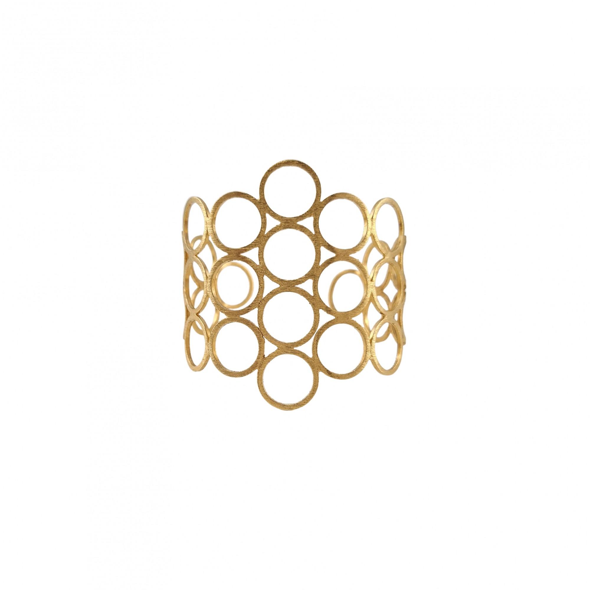 Bracelete olímpia  banhado a ouro 18k