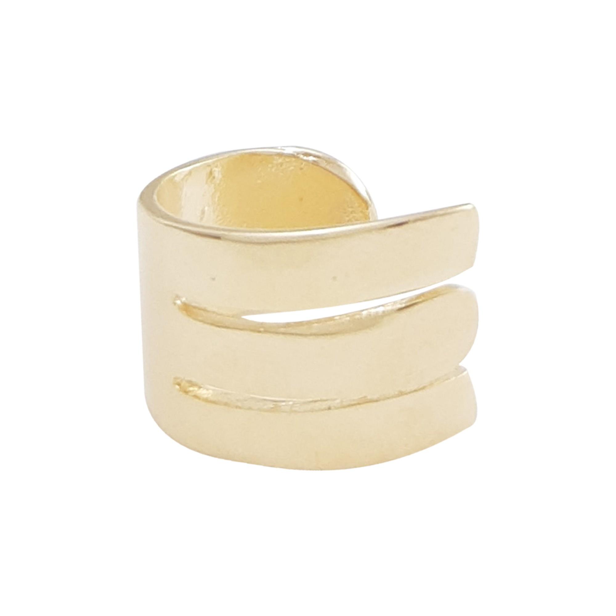 Piercing concha banhado a ouro 18k