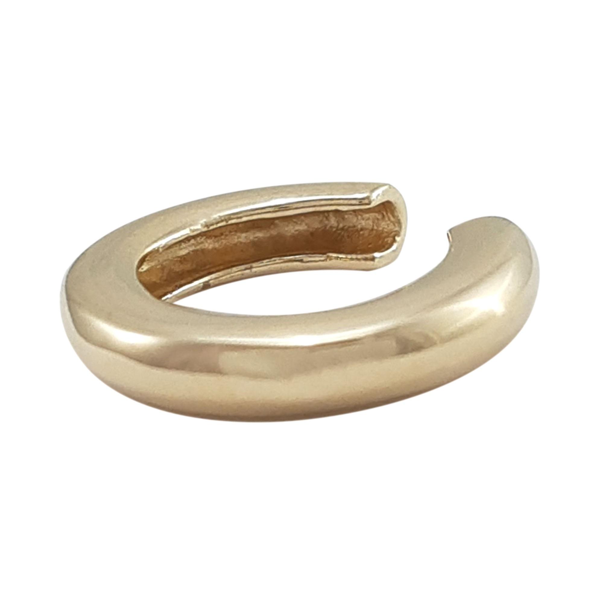 Piercing fake indiano polido banhado a ouro 18k e ródio branco