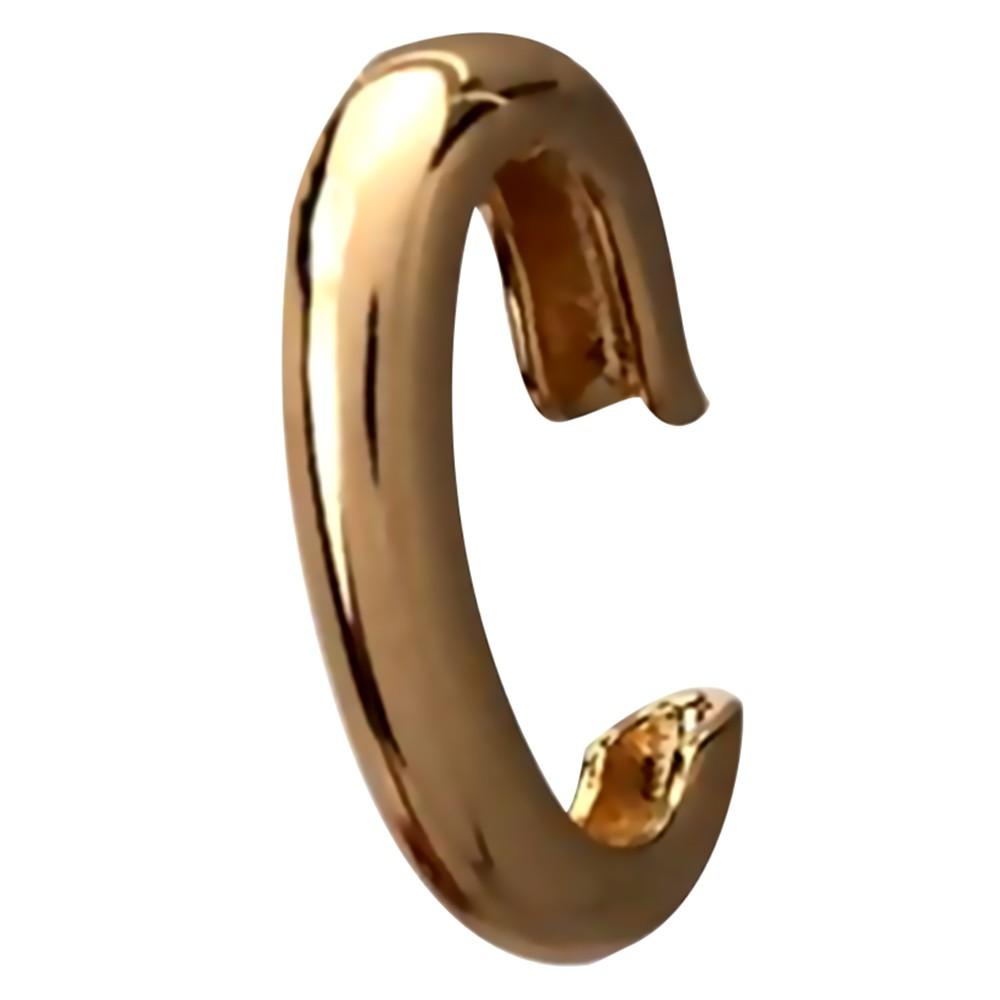 Piercing gancho liso banhado a ouro 18k