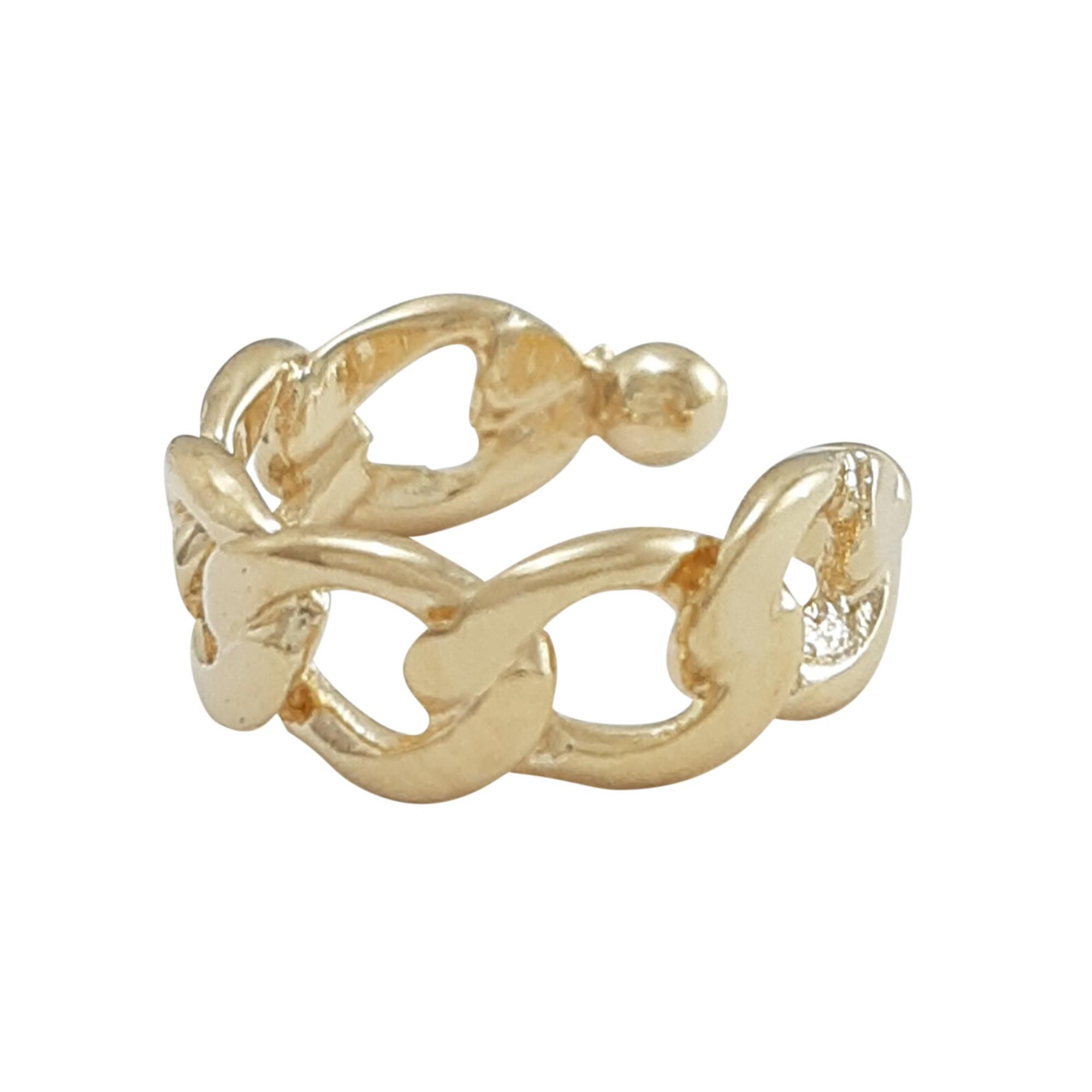Piercing mini elos  banhado a ouro 18k