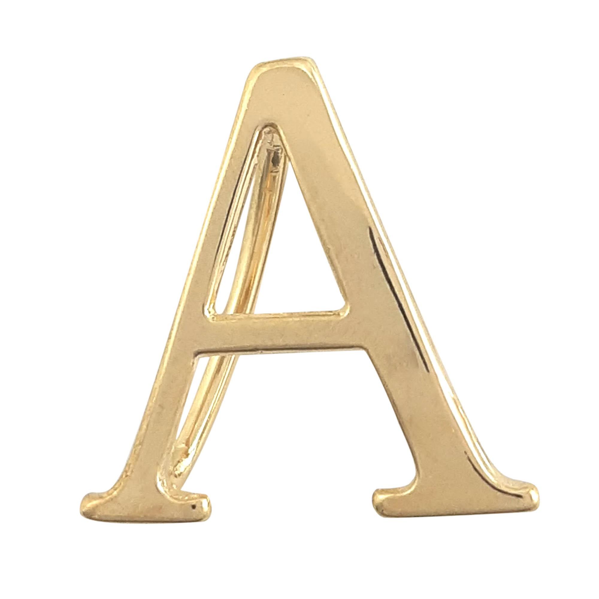 Pingente de letras para lenço banhado a ouro 18k