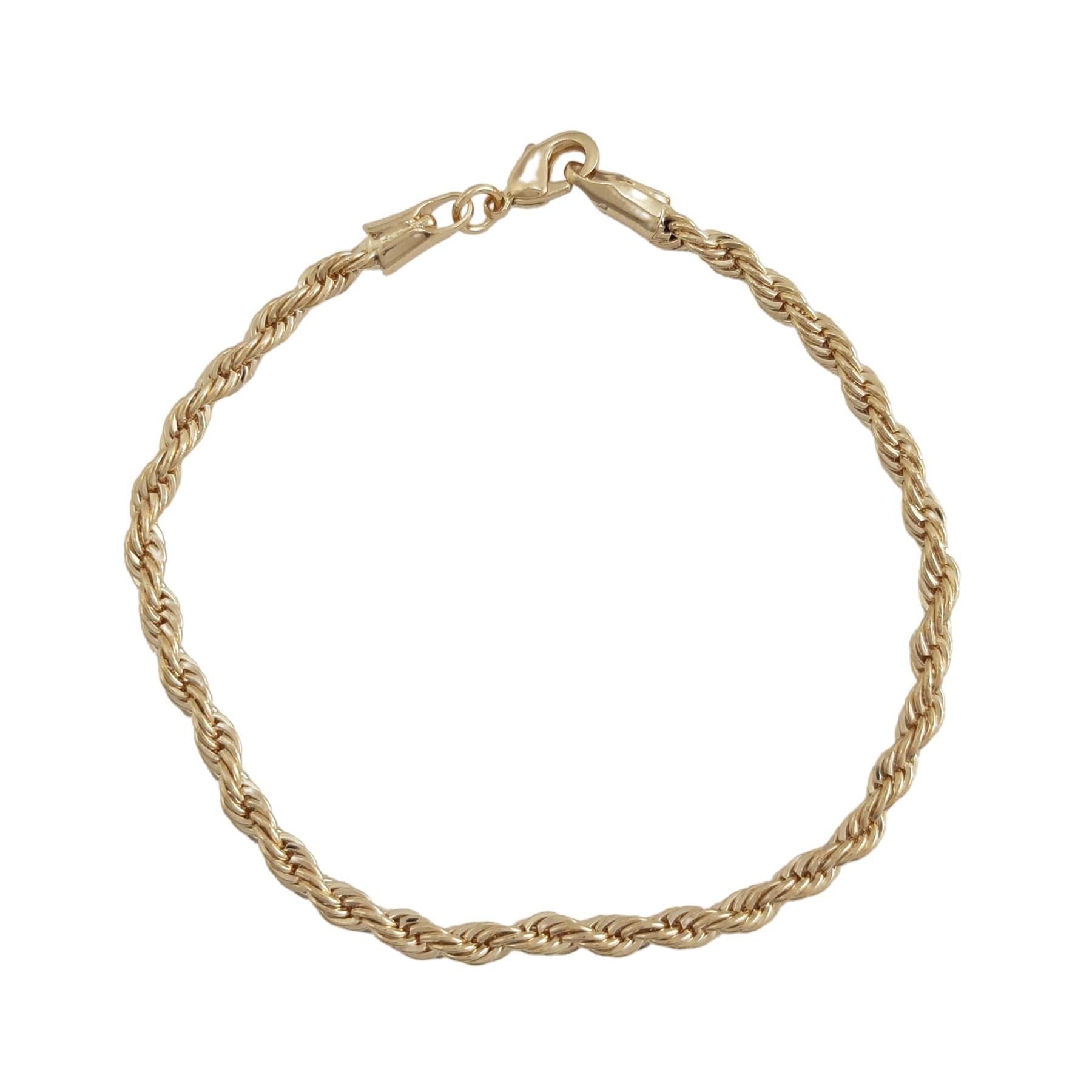 Pulseira cordão baiano banhado a ouro 18k