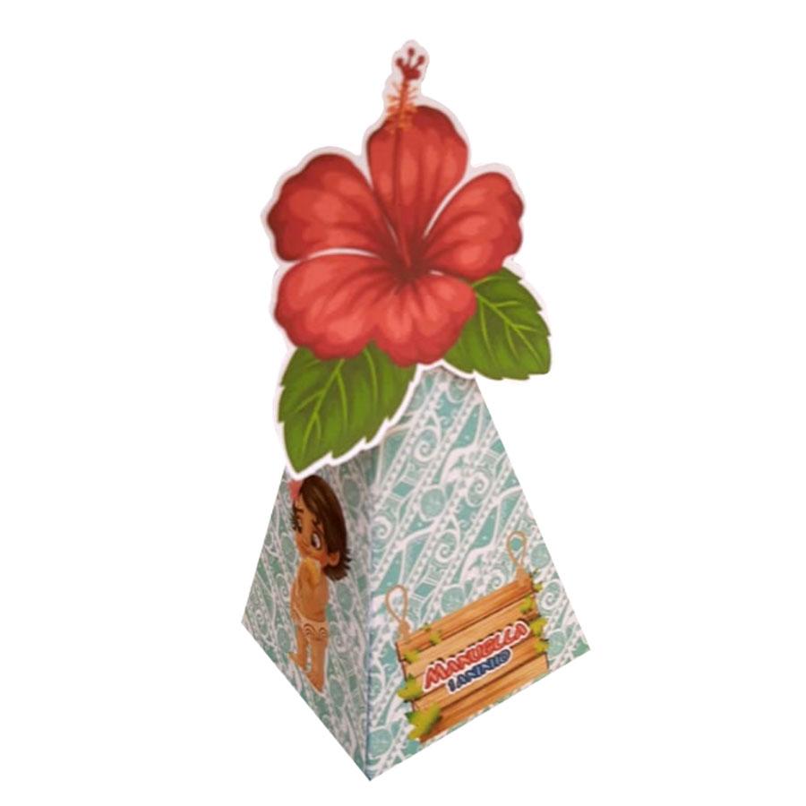 10x Caixa Piramide Personalizada Com Tag- Pacote com 10 unidades