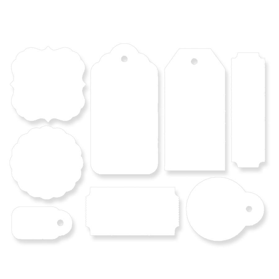 10X Tag com Fitinha de Cetim - Pacotes com 10 unidades