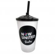 10x Copo Milk Shake Branco Personalizado 500ml - Pacote com 10 unidades