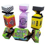 10x Caixa Bala Personalizada - Pacote com 10 unidades