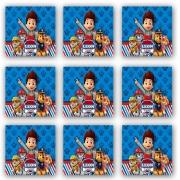 Cartela de Adesivo Personalizado Quadrado 5x5 (15 adesivos)