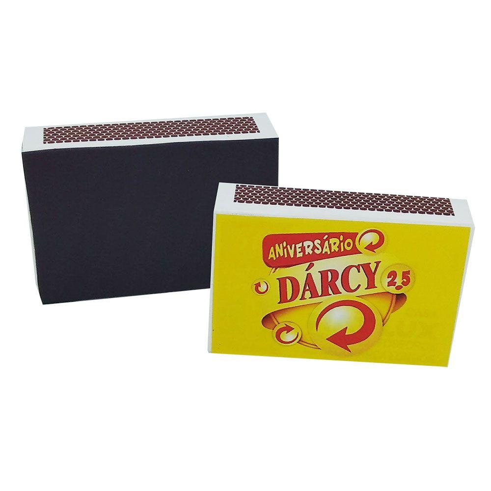 15x Caixa de Fósforo Personalizada - Pacote com 15 unidades