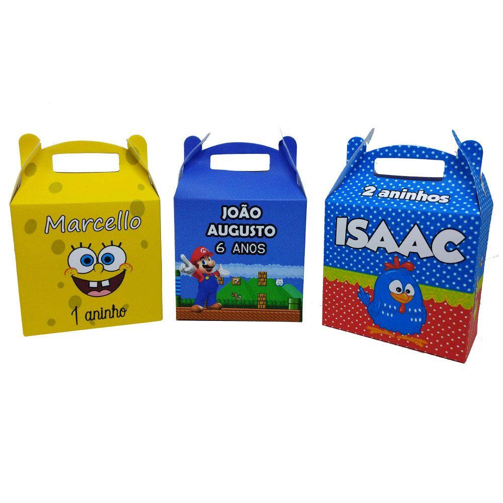 10x Caixa Maleta Personalizada - Pacote com 10 unidades