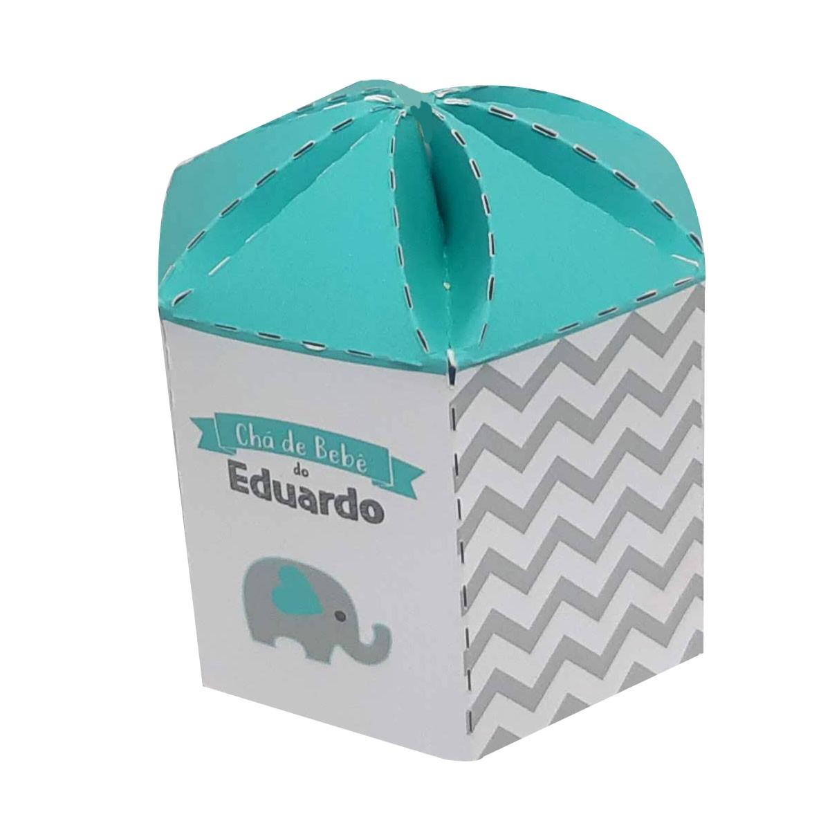 10x Caixa Sextavada Personalizada - Pacote com 10 unidades