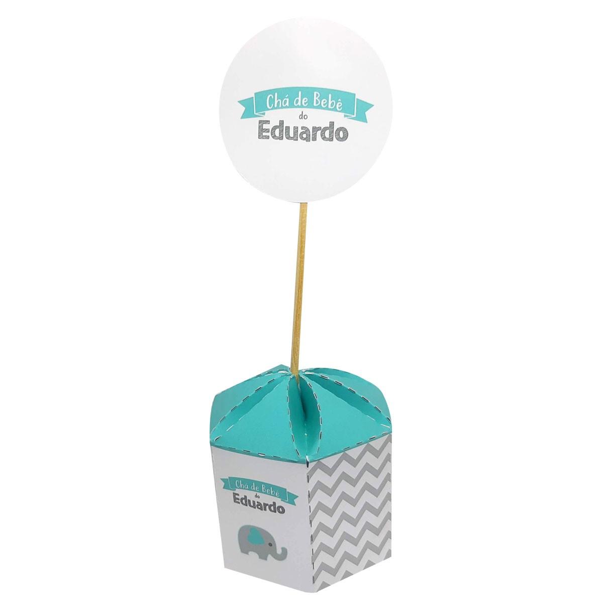 10x Caixa Sextavada Personalizada com Totem - Pacote com 10 unidades