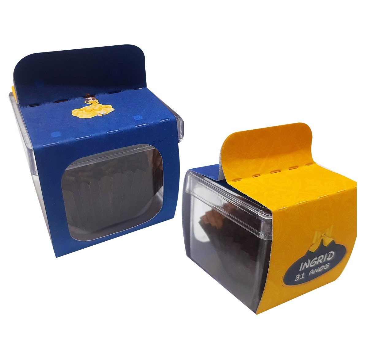 15x Caixinha Acrílica 5x5 Com Lapela Personalizada - Pacote com 15 unidades