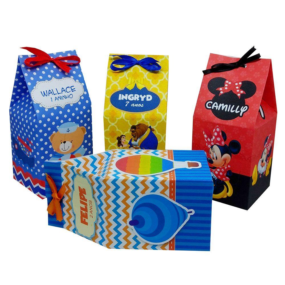 10x Caixinha Milk Personalizada - Pacote com 10 unidades