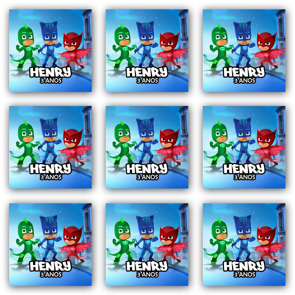 Cartela de Adesivo Personalizado Quadrado 10x10 (2 adesivos)