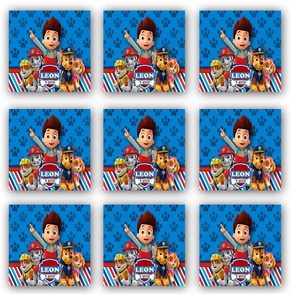 Cartela de Adesivo Personalizado Quadrado 4x4 (24 adesivos)