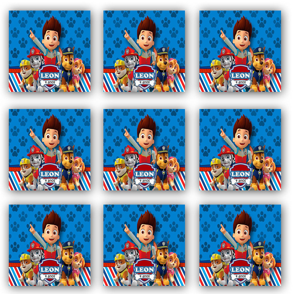 Cartela de Adesivo Personalizado Quadrado 6x6 (8 adesivos)