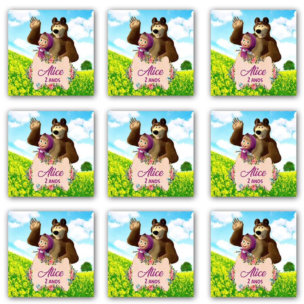 Cartela de Adesivo Personalizado Quadrado 8x8 (6 adesivos)