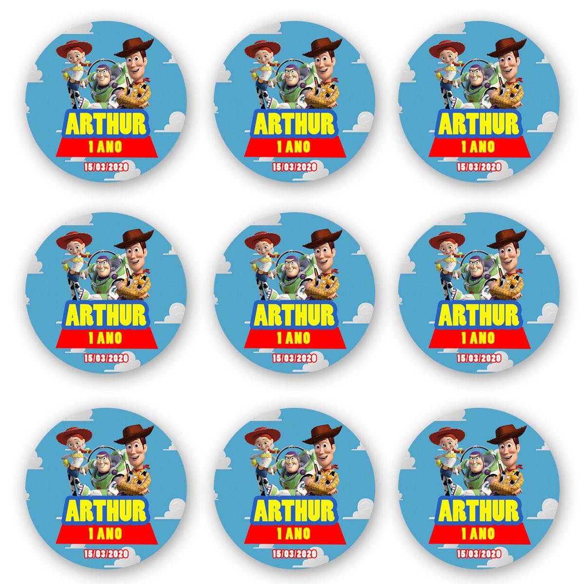 Cartela de Adesivo Personalizado Redondo 10x10 (2 adesivos)